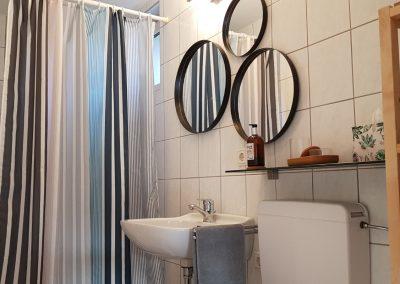 Badezimmer Ferienwohnung Spatz