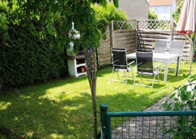 Garten Ferienwohnung Spatz